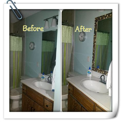 mosaic tile framed bathroom mirror inspired projects mosaic tiles