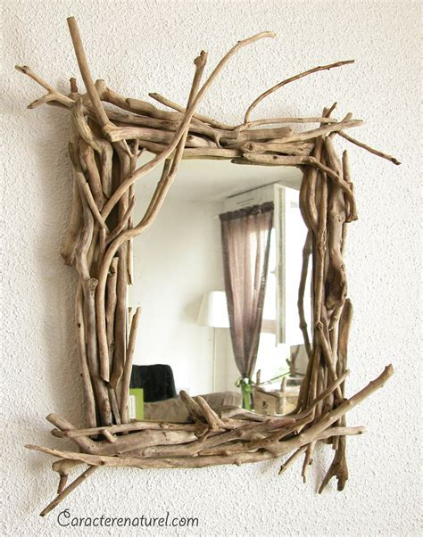 caract 232 re naturel miroir en bois flott 233