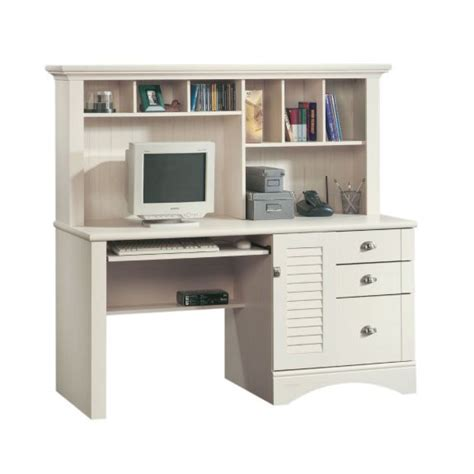 sauder harbor view computer desk with hutch 158034 free shipping