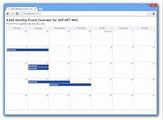 AJAX Event Calendar Scheduler for ASPNET MVC in 80