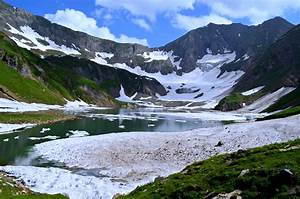 Gattain lake Kashmir pakistan nature snow winter landscape ...
