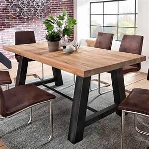 Moderne Tische Für Wohnzimmer : esstisch laval 200x100 cm in eiche massiv metall ~ Markanthonyermac.com Haus und Dekorationen