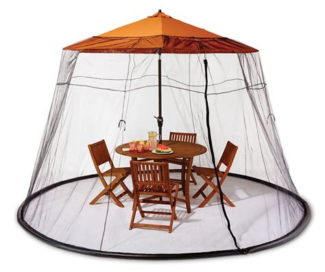 Mosquito Net Canopy For Outdoor Umbrella by Patio Table Mosquito Canopy The Green