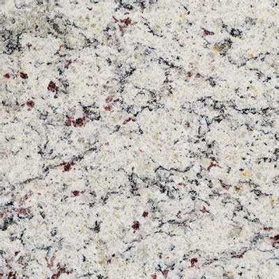 Dallas White Granite  Subtle Veining Defines This Material. Shiny Tile Floor. Apartment Appliances. Floating Console. Covered Parking. Outdoor Patios. Farmhouse Kitchen Sinks. Platform Bef. New York Kitchen And Bath