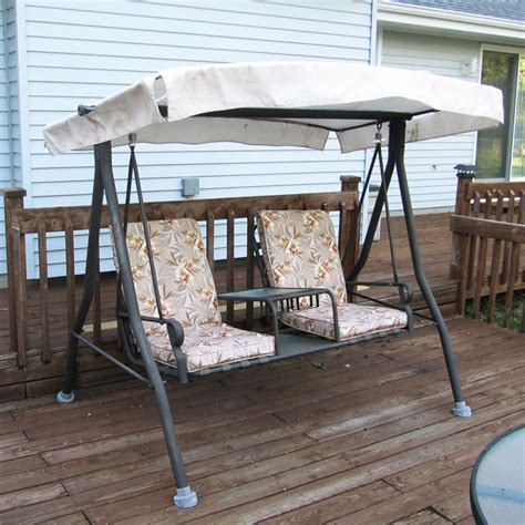 menards 2 seat chair style swing canopy and cushion