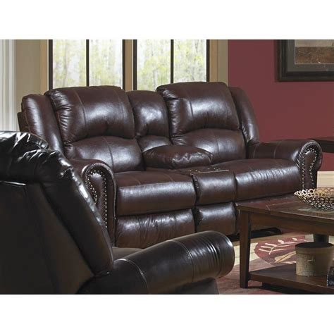 catnapper livingston leather power reclining loveseat in redwood 64509127404307404