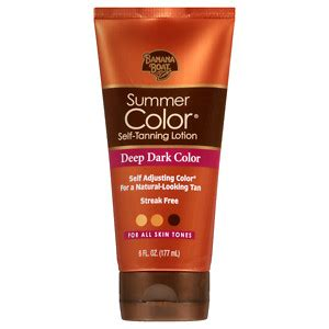 Is Banana Boat Self Tanner Safe by Banana Boat Sunless Summer Color Self Tanning Lotion