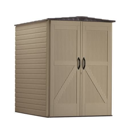 Rubbermaid Storage Shed Accessories Canada by Shop Rubbermaid Roughneck Storage Shed Common 5 Ft X 6