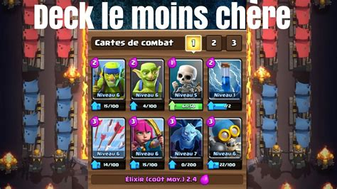 d 233 fis 3 le deck le moins ch 232 re de clash royale