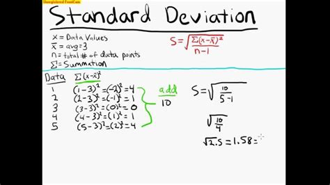 Standard Deviation Example Statistics 100 Youtube