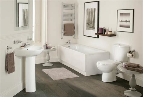 Galaxy Modern Bathroom Suite White Bath Toilet Sink Basin