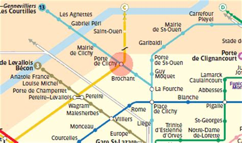 porte de clichy station map metro
