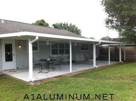 aluminum awnings for patios aluminum patio cover with flat pan in pasadena tx 187 a 1