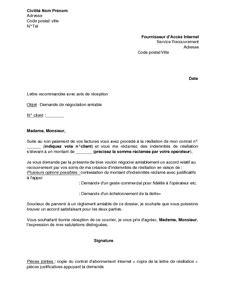 exemple gratuit de lettre n 233 gociation amiable indemnit 233 r 233 siliation service recouvrement suite 224