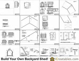 8x10 gambrel shed plans icreatables