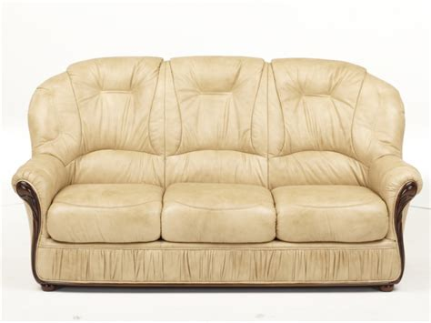 canap 233 et fauteuil en 100 cuir et 3 coloris debora