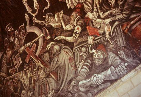 orozco mural in guadalajara mexico