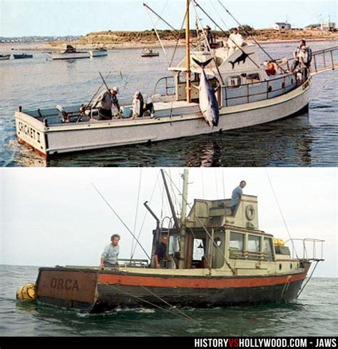 Jaws Fishing Boat Scene by Jaws Movie Boat Orca Bottom And Frank Mundus Boat