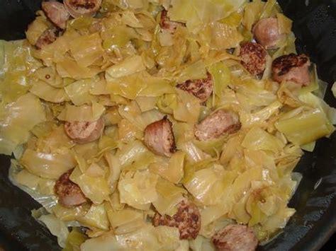 recette chou vert brais 233 aux saucisses de toulouse 750g