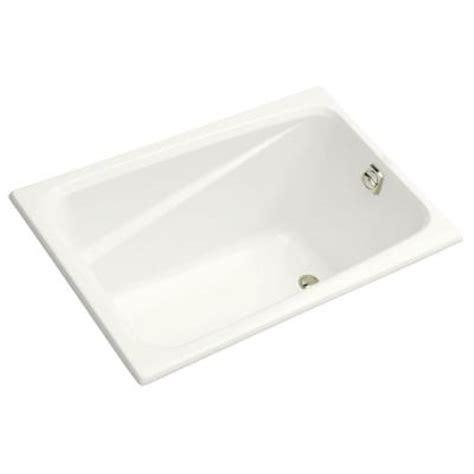 kohler 4 ft reversible drain acrylic soaking tub in