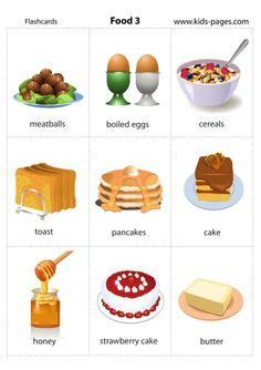 Printable Desserts And Sweets Flashcards  Dessert  Pinterest  English And Learning English