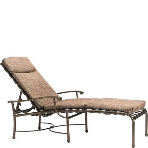 tropitone 20043205 sorrento chaise lounge with pad discount furniture at hickory park