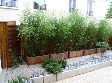 bamboo pots and fence on