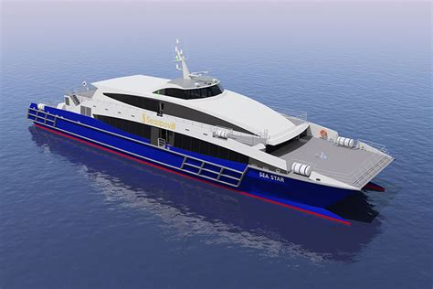 Catamaran Luxury Ferry by Incat Crowther To Design 50m Hsc Catamaran Ferry For