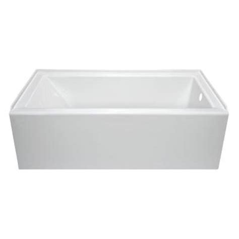 home depot bathtub stopper lyons industries linear 5 ft right drain soaking tub in