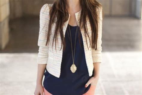Coat, Twill, Navy, Tangerine, Necklace, Gold, Shoes, Jacket, Brunette, Cream, Blazer, Gold