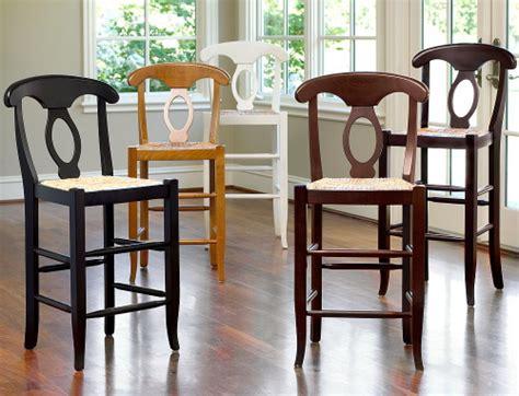 napoleon pottery barn barstools create a classic look