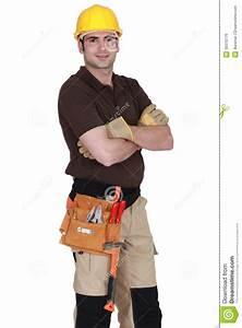 Posing Handyman Stock Photo   CartoonDealer.com #4773450