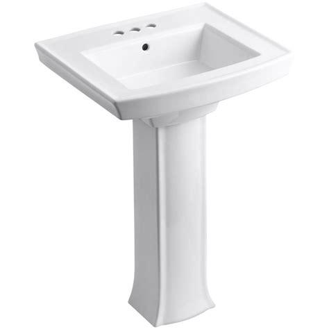 Kohler Archer Pedestal Sink Home Depot by Kohler Archer Vitreous China Pedestal Combo Bathroom Sink
