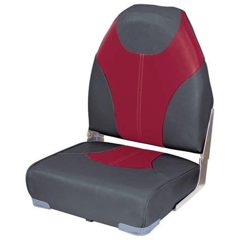 Red Fishing Boat Seats by Wise 174 High Back Fishing Boat Seat 203996 Fold Down