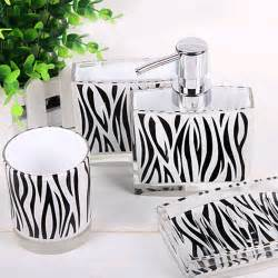 Zebra Print Bathroom Decor Zebra Bathroom Set