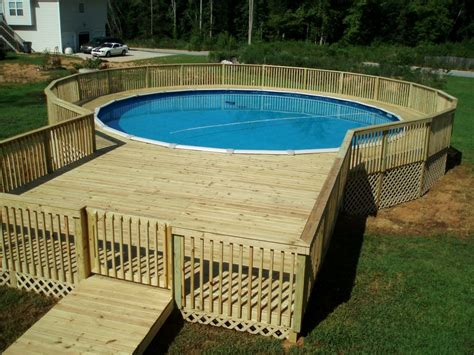 above ground pool decks this above ground pool deck has a w