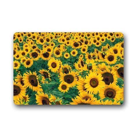 custom sunflower lanscape field door mats cover non slip machine washable outdoor indoor