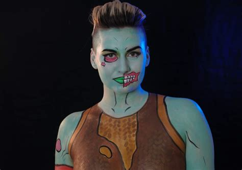 My Sister Did A Body Paint Of The Ghoul Trooper. My Friend