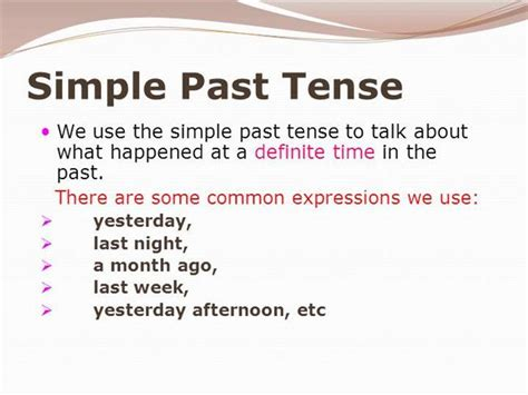 Simple Past Ppt Authorstream