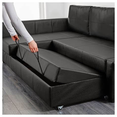 friheten corner sofa bed with storage bomstad black ikea