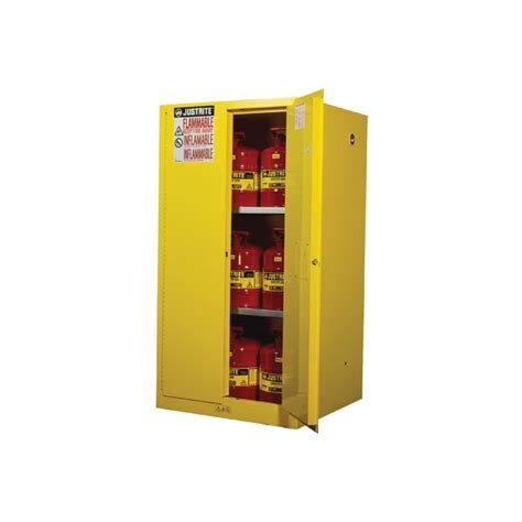 indonesia sell jual justrite 896000 yellow flammable safety cabinet storage 60 gallon