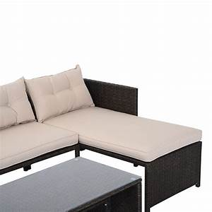 Lounge Sofa Outdoor : outsunny 3 piece outdoor rattan wicker patio sofa and chaise lounge set new arrivals ~ Markanthonyermac.com Haus und Dekorationen