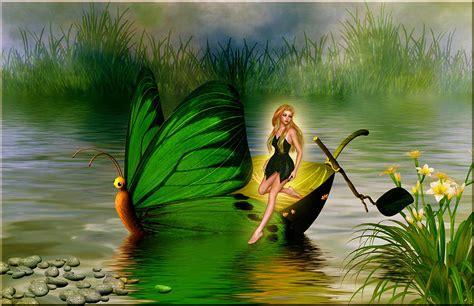Fairy On Boat by Butterfly Fairy Boat Digital Art By Austin Torney