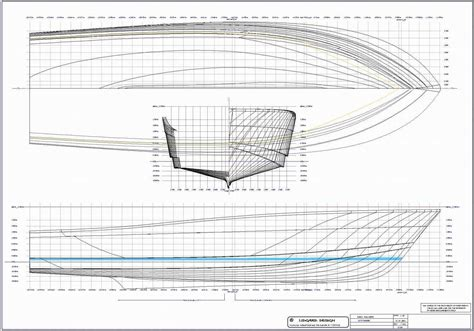 Catamaran Hull Lines by Free Boat Blueprints Hull Design For 60 Ft Production