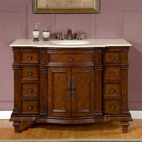 shop silkroad exclusive esther walnut undermount single sink bathroom vanity with top common
