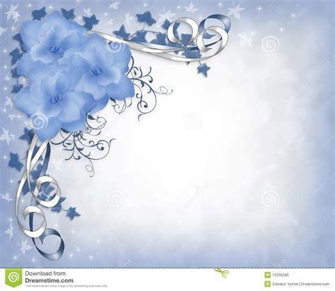 gardenias bleus de cadre d invitation de mariage floraux photo libre de droits image 10335585