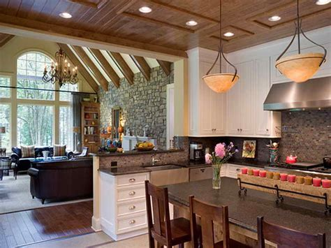 Best Floor For Kitchen And Family Room by Kitchen Living Room Open Floor Plan Pictures 3687