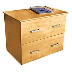 officemax oak finish 2 drawer lateral file cabinet by