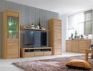 Wohnzimmer Eiche Massiv : wohnzimmer pisa 53 eiche bianco massiv 5 teilig wohnwand sideboard wohnbereiche wohnzimmer ~ Markanthonyermac.com Haus und Dekorationen