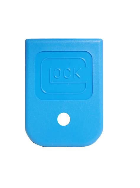 glock blue fml magazine floor plate for 9mm 40 357 45 gap glock magazines glockmeister